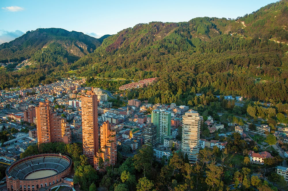Bogota and the Andes. Credit: Shutterstock.