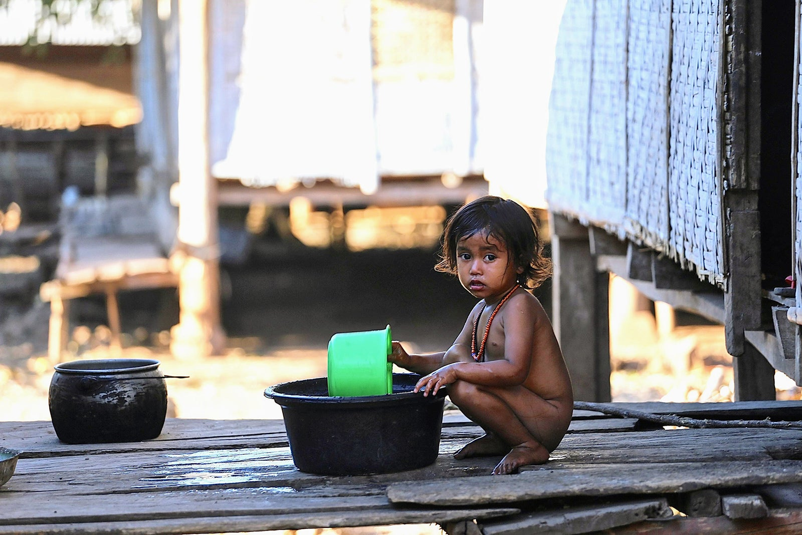 A child in a village in rural Indonesia. Credit: EOCRU.