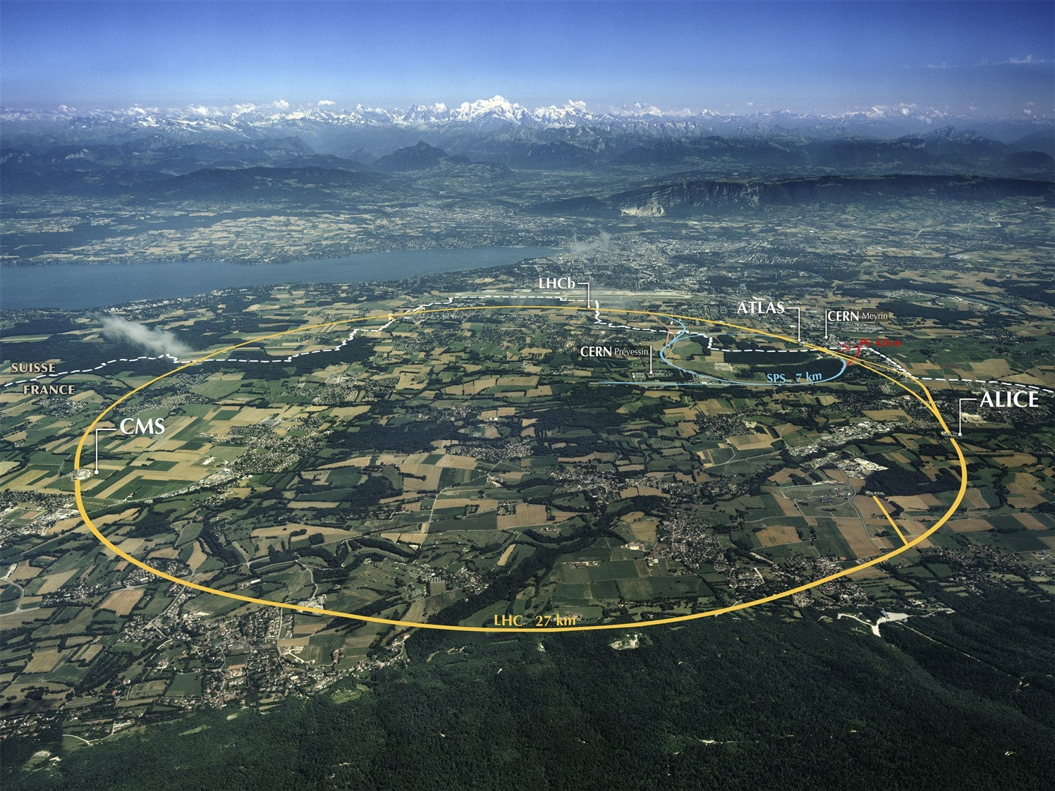 Aerial view of CERN