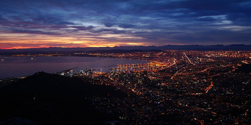 Cape Town at night. Credit: iStock.