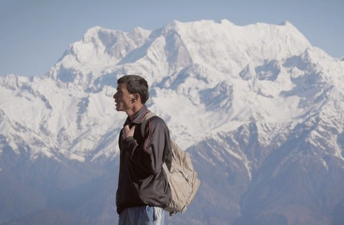 Nepali man in the Himalayas