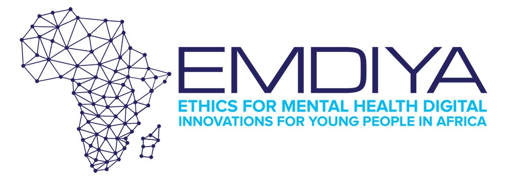 Logo for Ethics for Mental health Digital Innovations for Young People in Africa (EMDIYA).