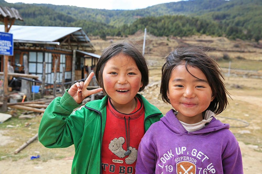 Children in Bhutan.