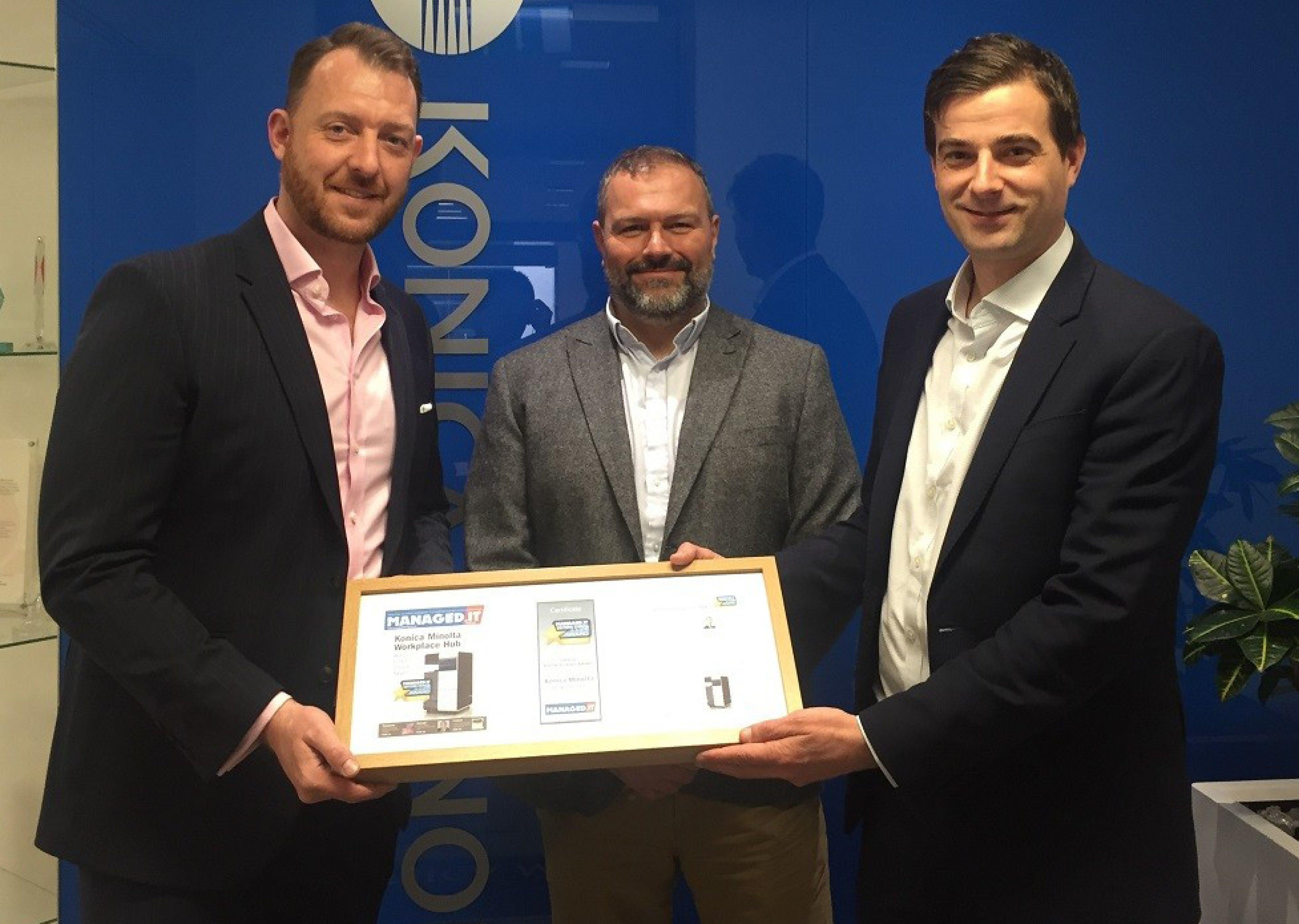 Soluția Workplace Hub de la Konica Minolta premiată cu distincția Editor's Choice