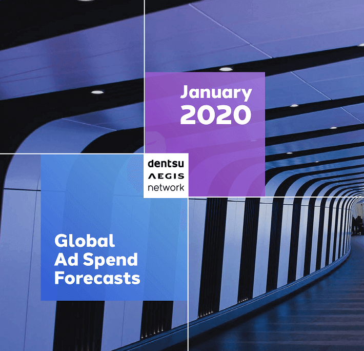 Globális reklámköltési előrejelzés 2020. január