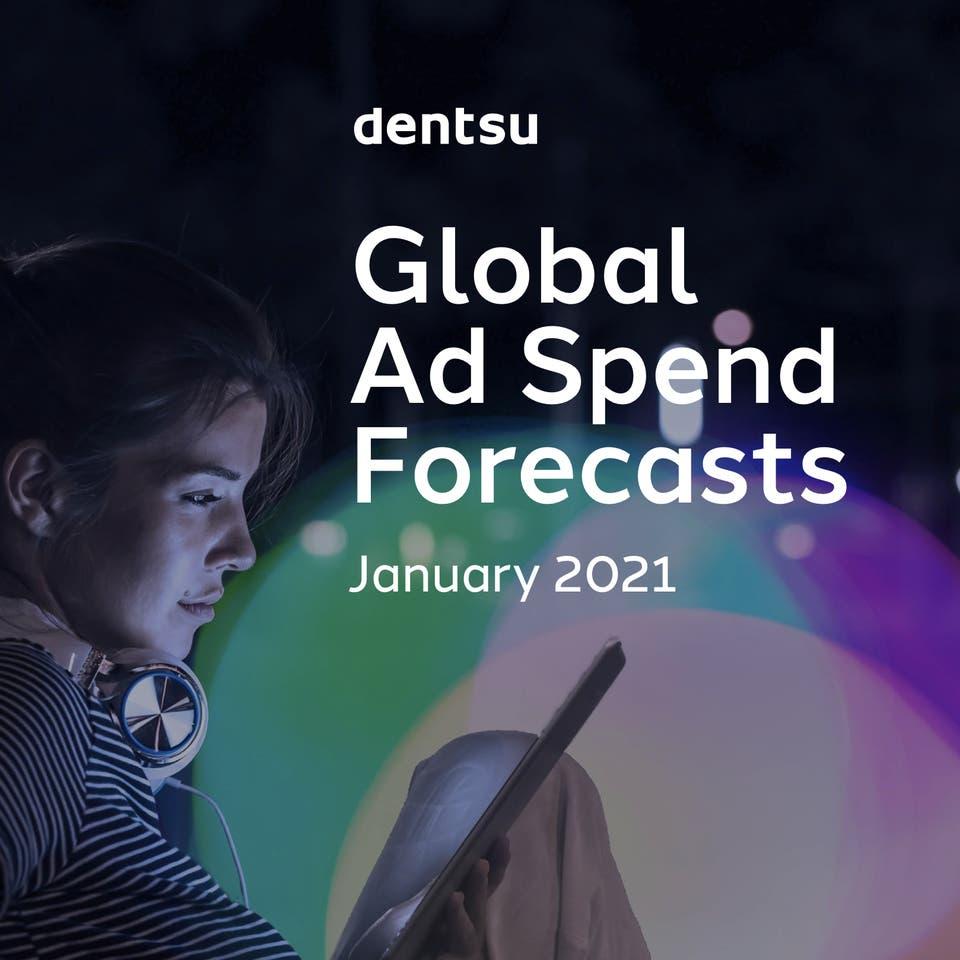dentsu Ad Spend January 2021